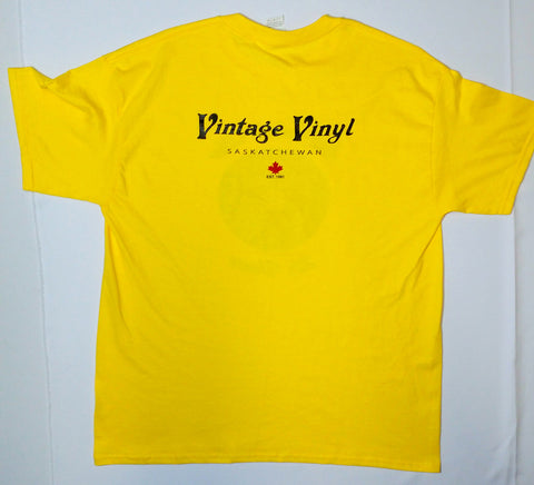 Vintage Vinyl - Still Spinnin' After 25 Years Yellow Shirt