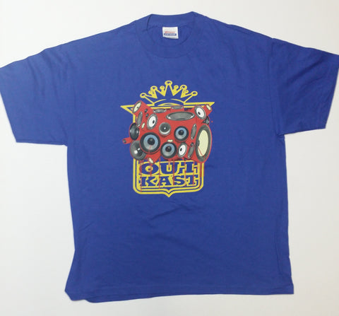 OutKast - Crowned Shield Red Speakers Blue Shirt