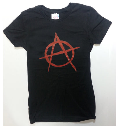 Anarchy - Black Novelty Girlie Shirt