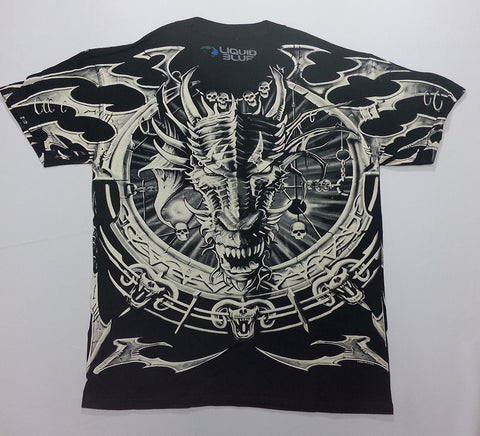 Dark Fantasy - Dragon Catcher All-Over Print Liquid Blue Shirt