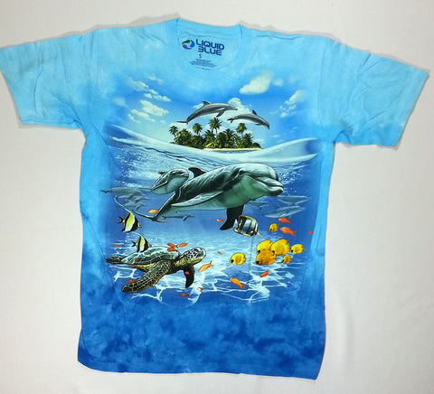 Animals - Dolphin Island Liquid Blue Shirt