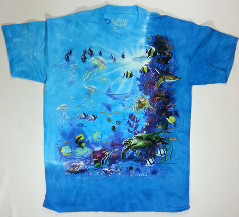 Animals - Tropical Reef and Fish Liquid Blue Shirt
