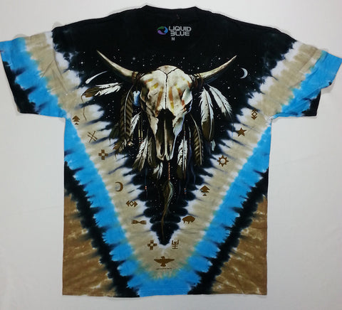 Animals - Buffalo Skull V Liquid Blue Shirt