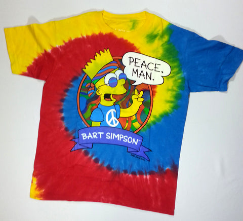 Simpsons, The - Bart Peace Man Liquid Blue Shirt