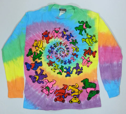 Grateful Dead - Spiral Bears Long Sleeve Liquid Blue Shirt