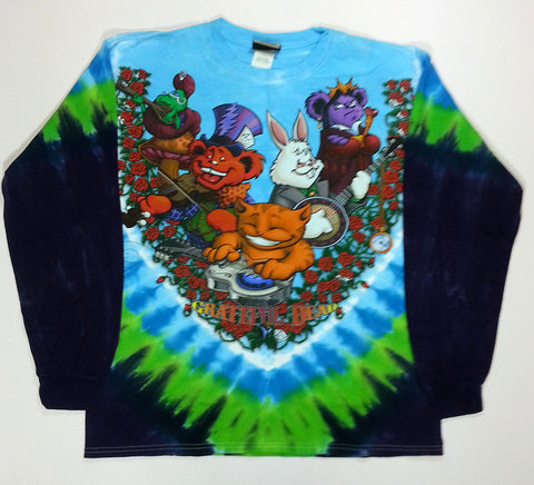 Grateful Dead - Wonderland Jam Band Long Sleeve Liquid Blue Shirt