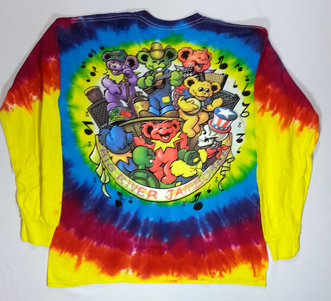 Grateful Dead - Big River Jamboree Long Sleeve Liquid Blue Shirt