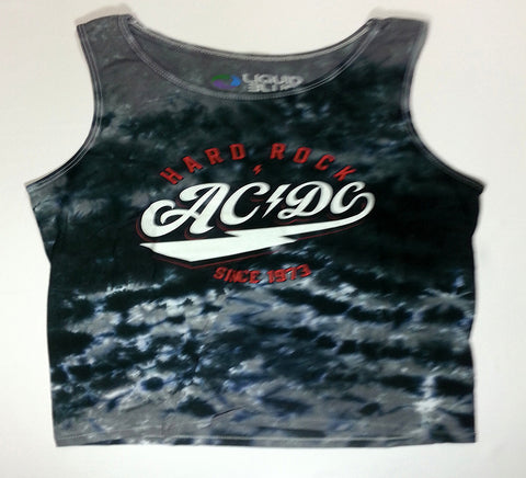 AC/DC - Hard Rock Since '73 Grey Sleeveless Liquid Blue Shirt