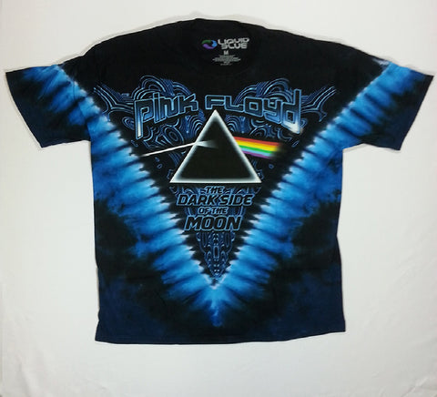 Pink Floyd - Dark Side Cool Text V Liquid Blue Shirt