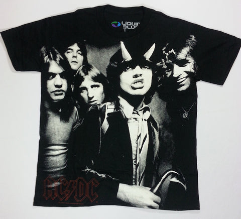 AC/DC - Highway To Hell Black And White Liquid Blue Shirt