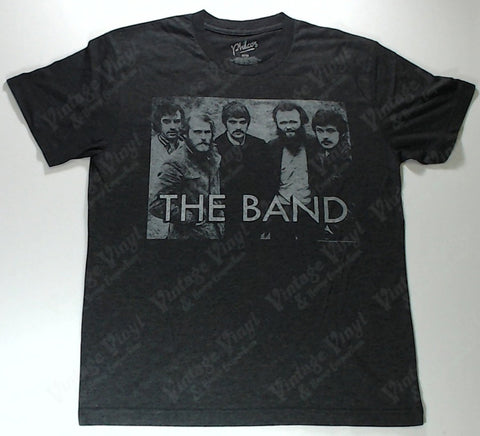 Band, The - Band Shot Large Letters Grey Shirt