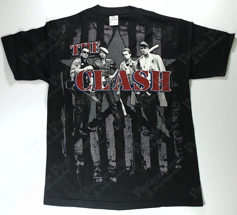 Clash, The - Band, Bats And Stripes Shirt