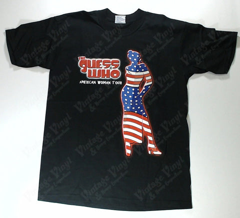 Guess Who, The - American Woman Tour Flag Woman Shirt