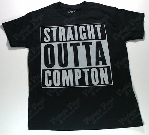 Straight Outta Compton - Black And White Logo Shirt