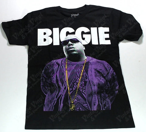 Notorious B.I.G. - Purple Biggie With Bling Shirt