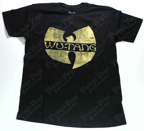 Wu-Tang Clan - Yellow W Logo Distressed Print Shirt