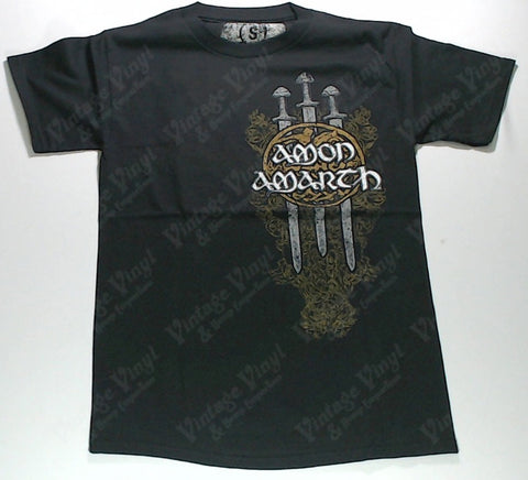 Amon Amarth - Gold Shield with Swords Shirt