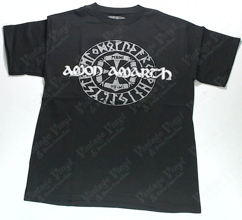 Amon Amarth - Grey Runes and White Logo Shirt