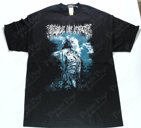 Cradle Of Filth - Blue and White Figure Painting Flowers White… Shirt