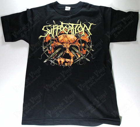 Suffocation - Surgery Of Impalement Orange Skull Blades Shirt