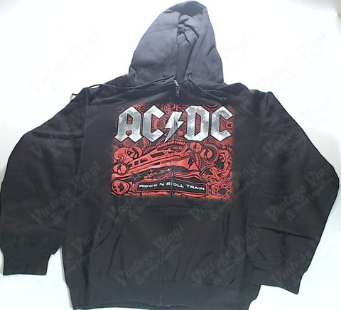 AC/DC - Red Rock N Roll Train Zip-Up Hoodie