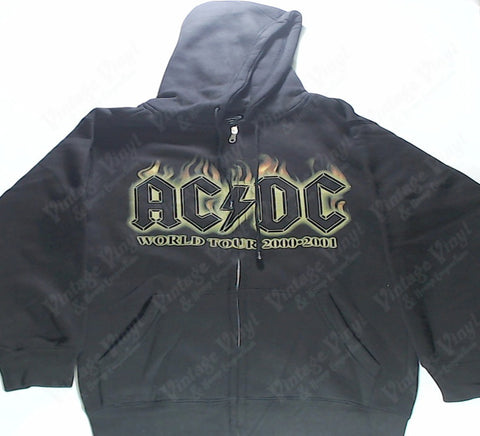 AC/DC - Flaming Logo World Tour Zip-Up Hoodie