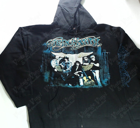 Aerosmith - Blue Band Zip-Up Hoodie