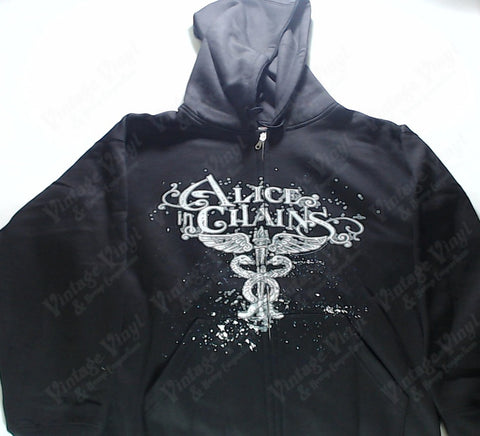Alice in Chains - Caduceus Logo Zip-Up Hoodie