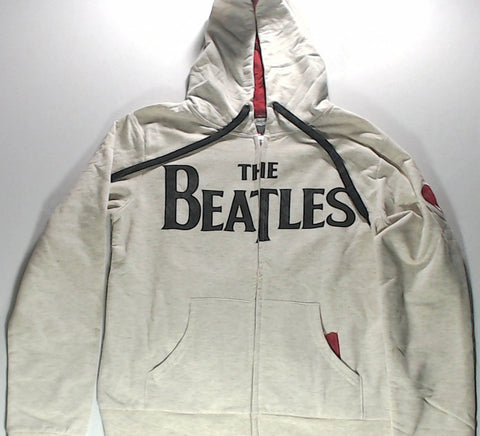Beatles, The - White and Red Zip-Up Hoodie