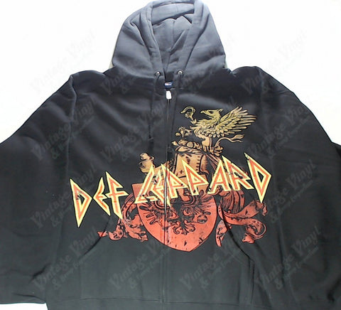 Def Leppard - Coat Of Arms Zip-Up Hoodie
