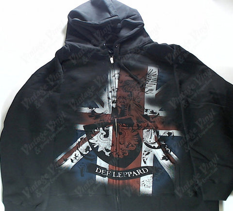 Def Leppard - Union Jack and Coat Of Arms Zip-Up Hoodie