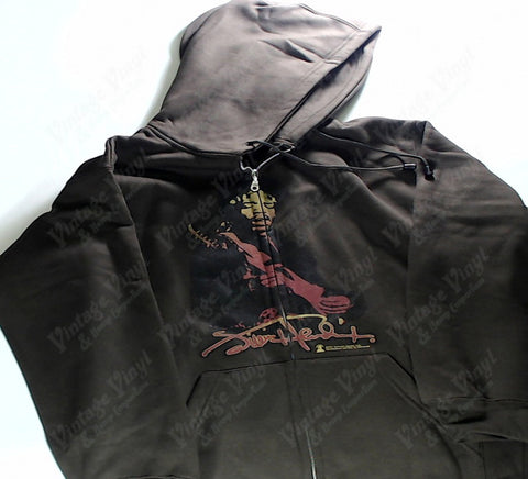 Hendrix, Jimi - Brown Zip-Up Hoodie