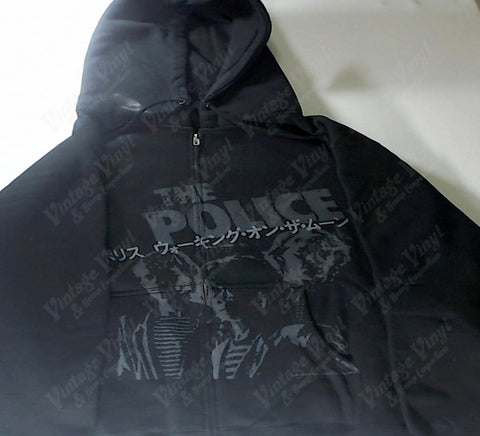 Police, The - Japanese Symbols Black and Grey Zip-Up Hoodie