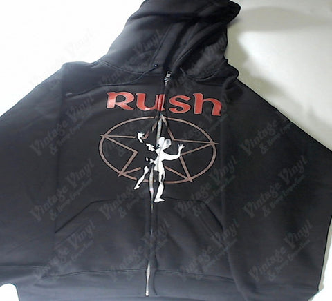 Rush - Tour '76 Star Man Red Logo Zip-Up Hoodie
