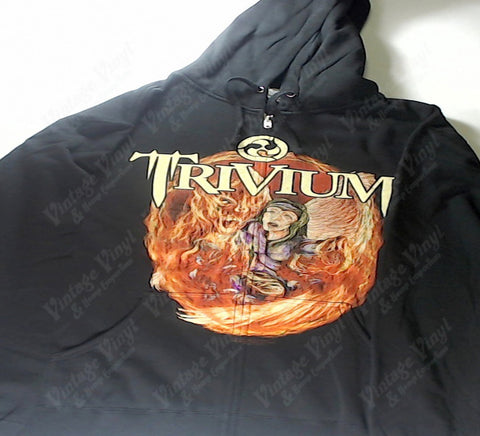 Trivium - Flaming Demon And Angel Zip-Up Hoodie