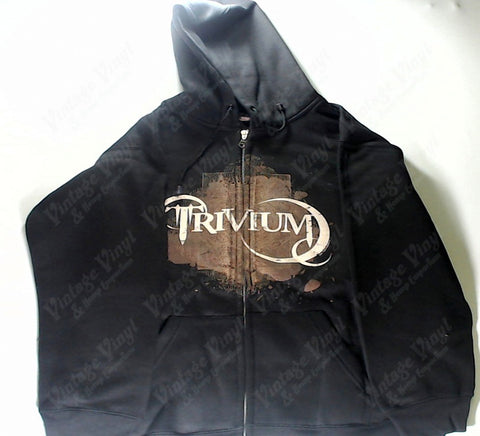Trivium - Brown Coat Of Arms And Crescents Zip-Up Hoodie