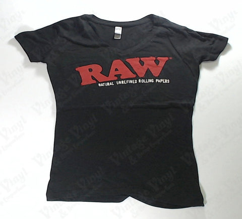 RAW - Red Logo Black Girlie Shirt