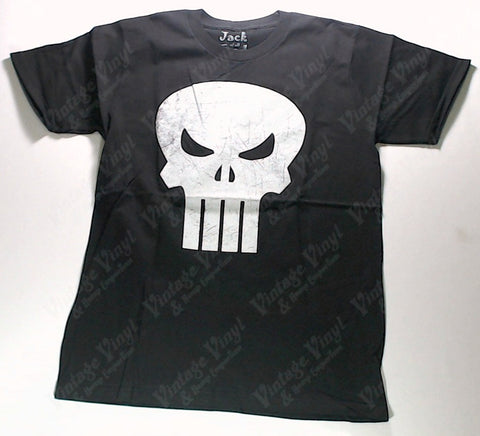 Punisher - Classic Skull Distressed Print Shirt