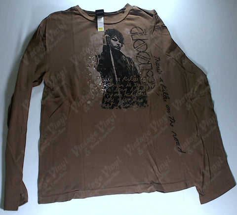 Doors, The - Jim Holding Mic Brown Long Sleeve Shirt