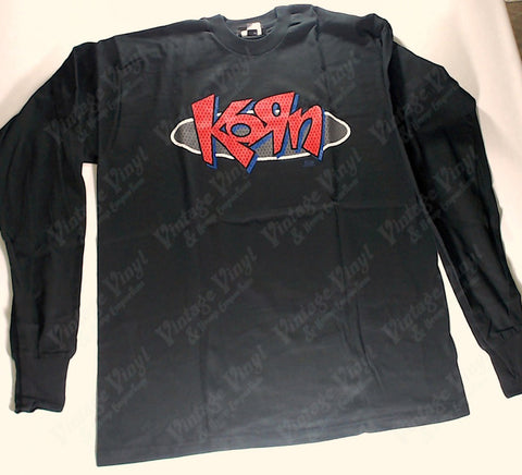 Korn - Jersey Style Red Logo Long Sleeve Shirt