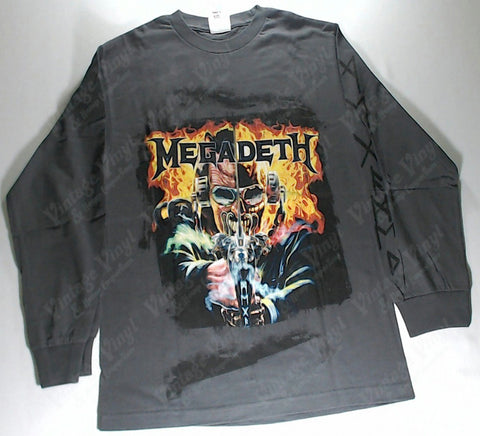 Megadeth - Machine Man Grey Long Sleeve Shirt