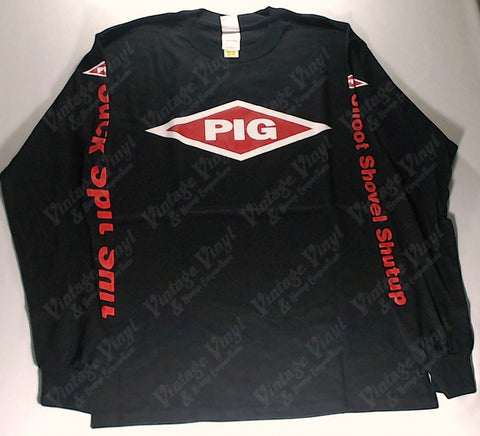 PIG - Red Diamond Logo Writing On Arms Long Sleeve Shirt