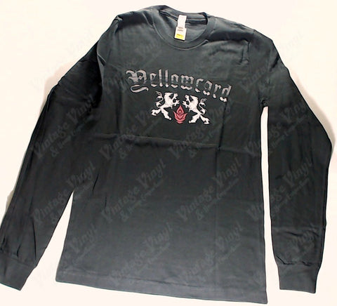 Yellowcard - Duelling Lions Red Rose Long Sleeve Shirt