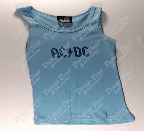 AC/DC - Blue Logo Tank Top Girlie Shirt