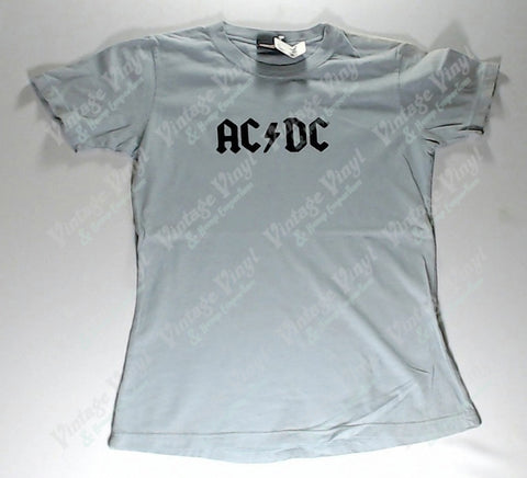 AC/DC - Light Blue Black Logo Girlie Shirt