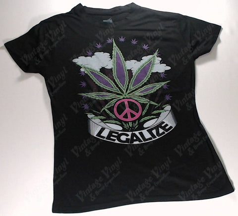 Legalize - Purple Leaf and Peace Sign Girlie Shirt