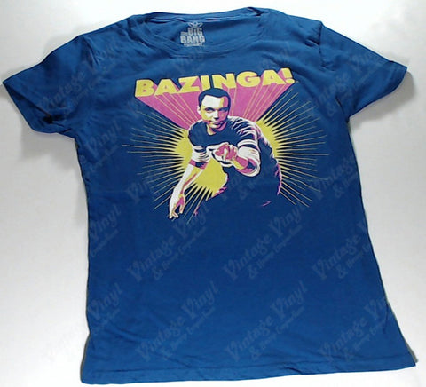 Big Bang Theory, The - Blue Bazinga Girlie Shirt