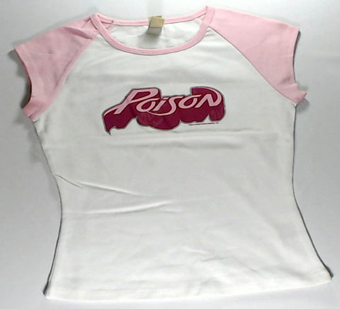 Poison - White and Pink Girls Youth Shirt
