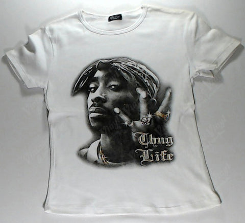 Tupac - Thug Life White Girls Youth Shirt