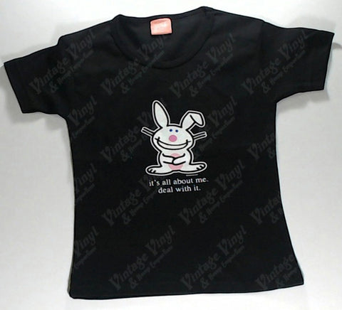 Happy Bunny - It's All About Me. Deal With It. Girls Youth Shirt